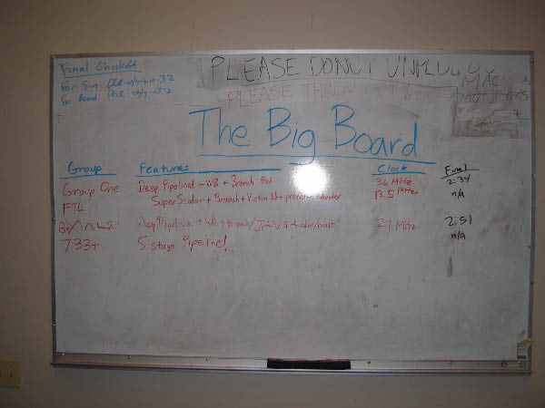 The Big Board from CS152.