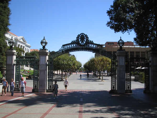 Sather Gate on Berkeley Campus.